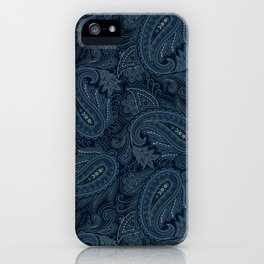 Meredith Paisley - Navy iPhone Case