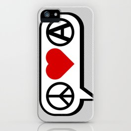 Peace. Love. Anarchy. iPhone Case
