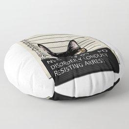 Kitty Mugshot Floor Pillow