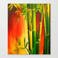 bamboo Canvas Prints featuring Bamboo by OLHADARCHUK