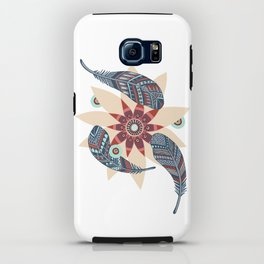 Flower and feathers iPhone Case