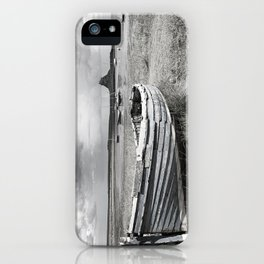 Lindisfarne Boat and Castle, Northumberland iPhone Case