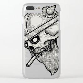 Viking Skull Clear iPhone Case