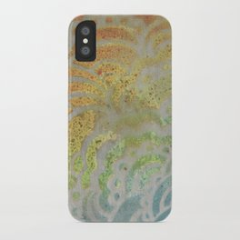 Drawing Meditation: Stencil 1 - Print 7 iPhone Case