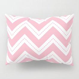 Pink Chevron Pillow Sham