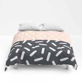 Random Geo - Dots and Dashes Comforters
