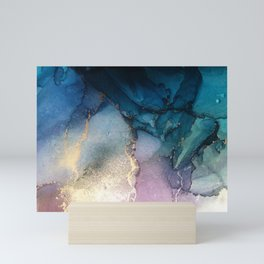 Pour your art out in sea green Mini Art Print
