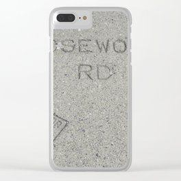 Rosewood Rd sidewalk stamp Clear iPhone Case