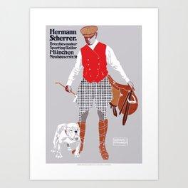 1911 Hermann Scherrer Tailor German Advertising Poster Art Print