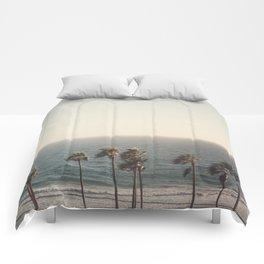 Golden Hour over Pacific Coast Highway Comforters