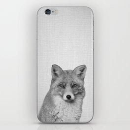 Fox - Black & White iPhone Skin