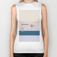 alcohol Biker Tanks featuring alcohol effect by Ilaria Bicchi