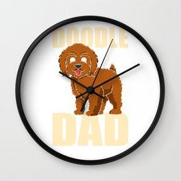 Doodle Dad Cute Golden Doodle Lovers Wall Clock