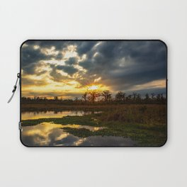 Down on the Bayou - Sunset Over Cypress Trees in Louisiana Swamp Laptop Sleeve