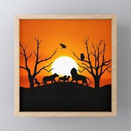 Lion family Framed Mini Art Print