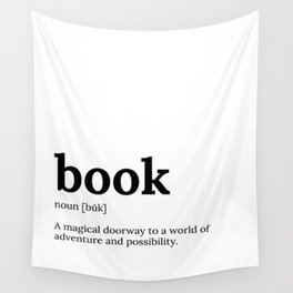 Book Definition Wall Tapestry