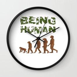 Being Human - Devolution Wall Clock