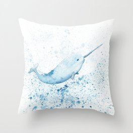 Magical Narwhal Throw Pillow