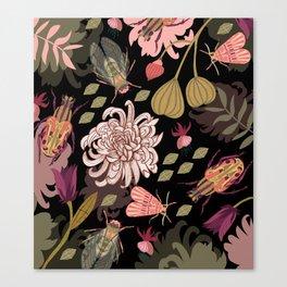Boho Bugs Canvas Print