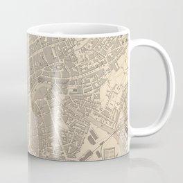 Vintage Map of Bristol England (1851) Coffee Mug