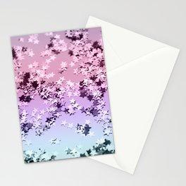 Unicorn Girls Glitter Stars #1 #shiny #pastel #decor #art #society6 Stationery Cards