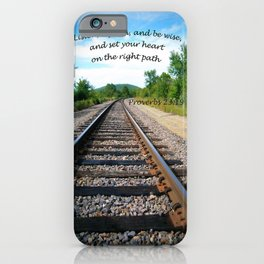 Proverbs 23:19 iPhone Case