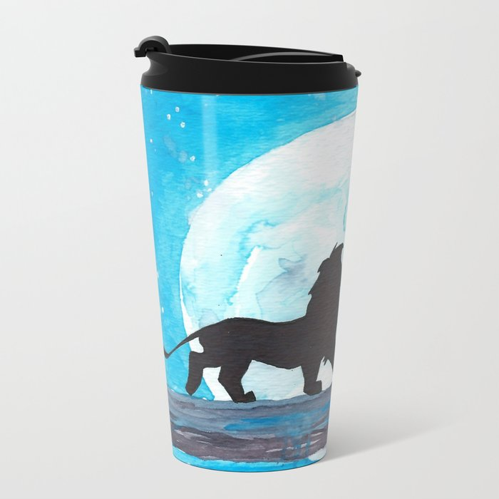The Lion King Stencil Metal Travel Mug