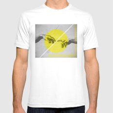 Prevenience MEDIUM White Mens Fitted Tee