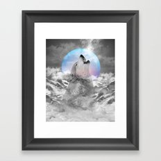 Maybe the Wolf Is In Love with the Moon Framed Art Print