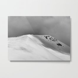 Snow Covered Mountain Slope Metal Print