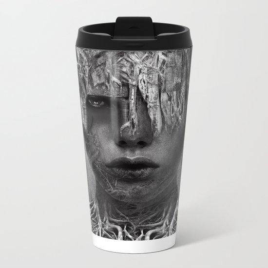 Ina - B&W Metal Travel Mug