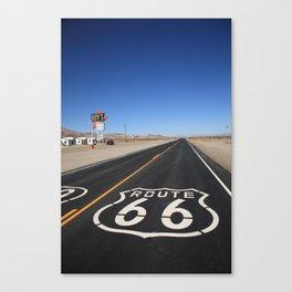 Route 66 Shield Canvas Print