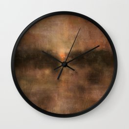Daybreak Lake Wall Clock