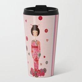 Kokeshi Geisha Japan Travel Mug