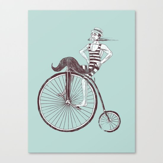 Mustache Handlebar Canvas Print