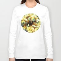 oil Long Sleeve T-shirts featuring Oil cubes by Tony Vazquez