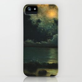 Point Judith, Rhode Island Night Scene, (c.1868) by Martin Johnson Heade iPhone Case