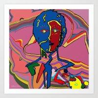 le petit prince Art Prints featuring le petit prince 2 by Stéphanie Delaine Melusine
