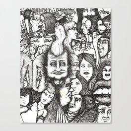 Elephants Collage Canvas Print
