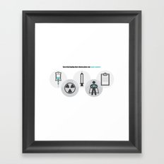 Chemo Super powers! Framed Art Print