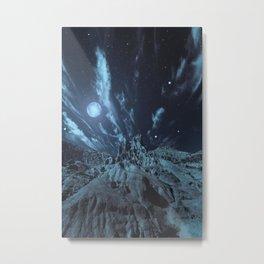 Blue Madness Metal Print