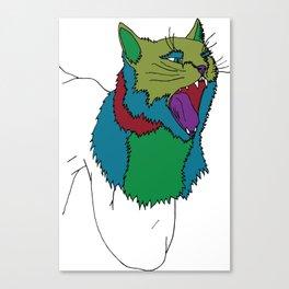 Cat Puppet Canvas Print