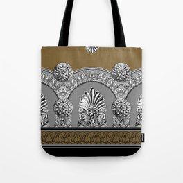 Roman Arches Black Brown Tote Bag