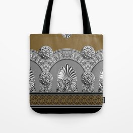 Roman Arches Black Brown Tote Bag