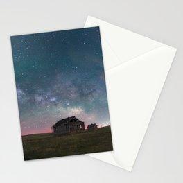 Lonely Barn Under a Starlit Sky Stationery Cards