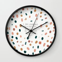 Joy in The Mess Of Things Wall Clock