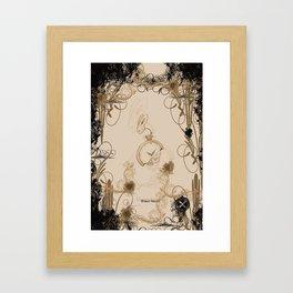 tick tock clock rabbit Framed Art Print