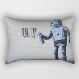 Banksy Robot (Coney Island, NYC) Rectangular Pillow