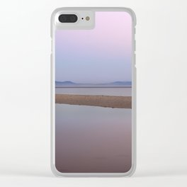 Pink sunset. Serenity beach Clear iPhone Case