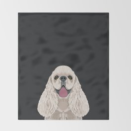 Harper - Cocker Spaniel phone case gifts for dog people dog lovers presents Throw Blanket